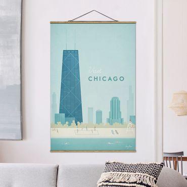 Foto su tessuto da parete con bastone - Poster viaggio - Chicago - Verticale 3:2