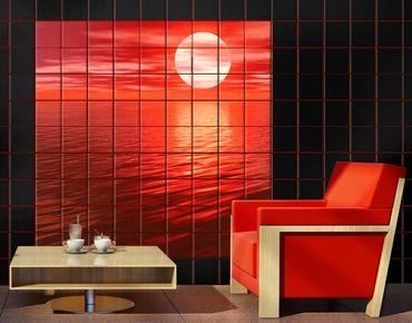 Adesivo per piastrelle - Red Sunset
