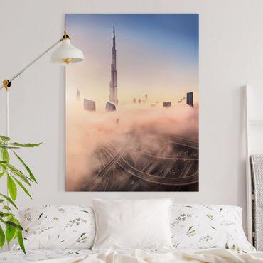 Stampa su tela - Heavenly skyline di Dubai - Verticale 3:4