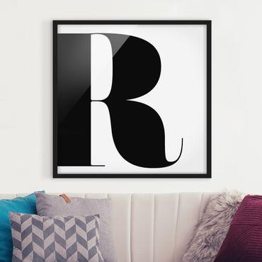 Poster con cornice - Antiqua Letter R - Quadrato 1:1