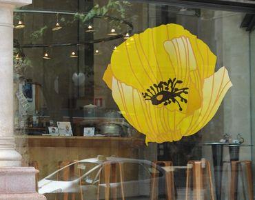 Adesivi da finestra No.UL617 Yellow Poppy