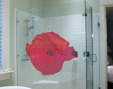 Adesivi da finestra No.UL618 Red Poppy