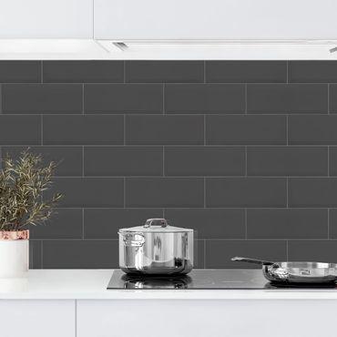 Rivestimento cucina - Mattonelle in ceramica antracite