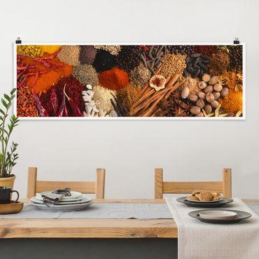 Poster - spezie esotiche - Panorama formato orizzontale