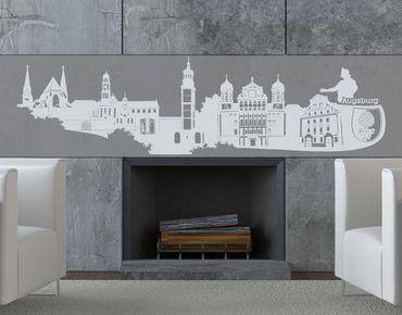 Adesivo murale no.KS5 Skyline Augsburg