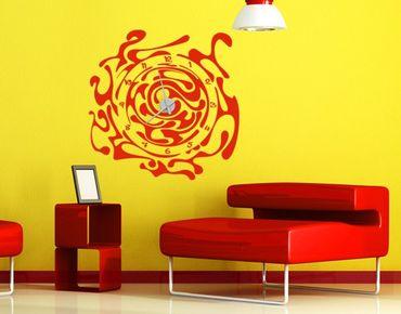 Adesivo murale orologio no.IS50 Curl