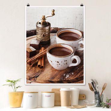 Poster - cioccolata calda - Verticale 4:3