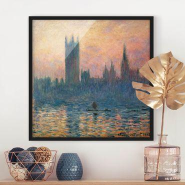 Poster con cornice - Claude Monet - London Sunset - Quadrato 1:1