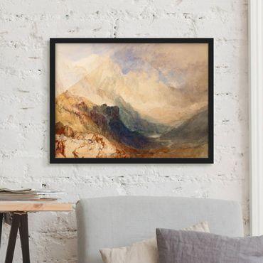 Poster con cornice - William Turner - Aosta Valley - Orizzontale 3:4