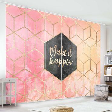 Tende scorrevoli set - Elisabeth Fredriksson - Make It Happen Geometria pastello - 6 Pannelli