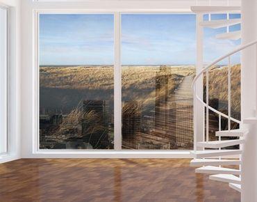 Decorazione per finestre Pathway Through The Dunes At Sylt