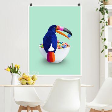 Poster - Colazione Con Toucan - Verticale 4:3