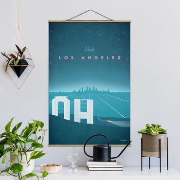 Foto su tessuto da parete con bastone - Poster Travel - Los Angeles - Verticale 3:2