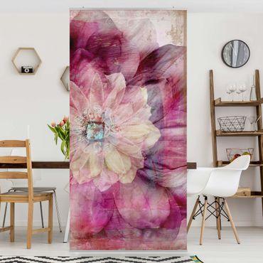 Tenda a pannello Grunge Flower 250x120cm