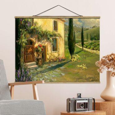 Foto su tessuto da parete con bastone - Paesaggio Italiano - Cypress - Orizzontale 3:4