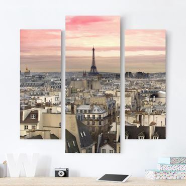 Stampa su tela 3 parti - Paris Close - Trittico da galleria