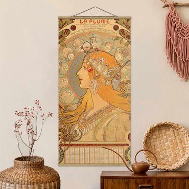 Foto su tessuto da parete con bastone - Alfons Mucha - Segni dello zodiaco - Verticale 2:1