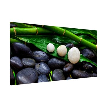 Lavagna magnetica - Verde bambù con Pietre Zen - Panorama formato orizzontale