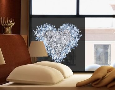 Decorazione per finestre Diamond Heart