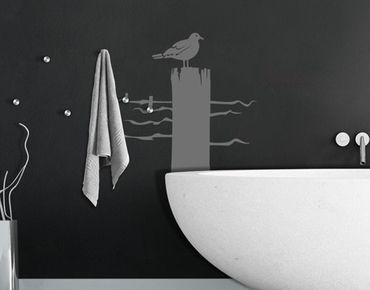 Adesivo murale appendiabiti no.IS24 Lonesome Gull