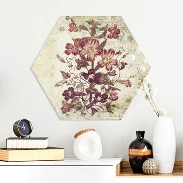 Esagono in forex - Vintage Floral Design