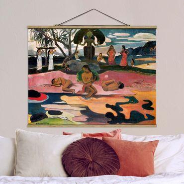 Foto su tessuto da parete con bastone - Paul Gauguin - Dio Estag - Orizzontale 3:4