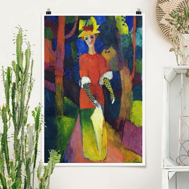 Poster - August Macke - Lady In The Park - Verticale 3:2