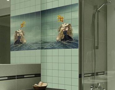 Adesivo per piastrelle - Kiss image of a goldfish