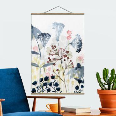 Foto su tessuto da parete con bastone - Wildflower Acquerello I - Verticale 3:2
