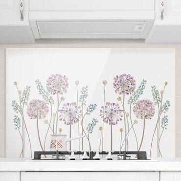 Paraschizzi in vetro - Allium Illustration - Orizzontale 2:3