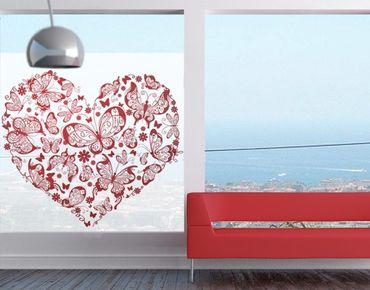 Decorazione per finestre Heart Made Of Butterflies