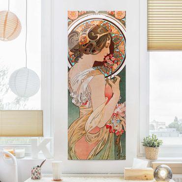 Quadro in vetro - Alfons Mucha - Primrose - Pannello