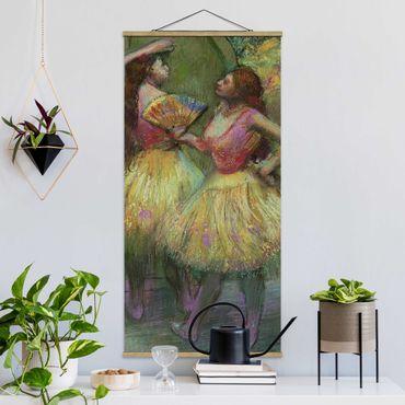 Foto su tessuto da parete con bastone - Edgar Degas - Due danzatori - Verticale 2:1