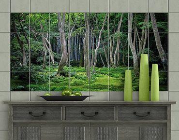Adesivo per piastrelle - Japanese Forest