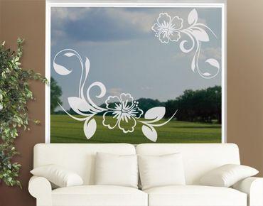 Adesivo per finestre - no.CA10 Dream Of Hibiscus