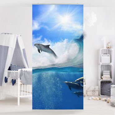 Tenda a pannello Playing Dolphins 250x120cm