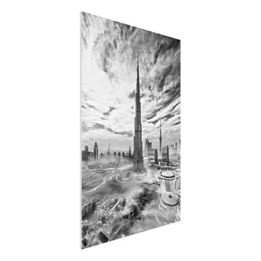 Quadro in forex - Dubai Super Skyline - Verticale 2:3