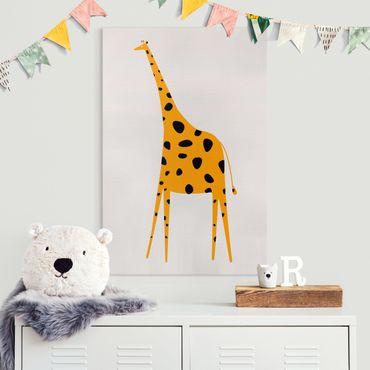 Stampa su tela - Giraffa gialla - Verticale 3:2