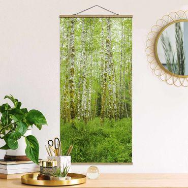 Foto su tessuto da parete con bastone - Hoh Rain Forest nel Parco Nazionale olimpica - Verticale 2:1