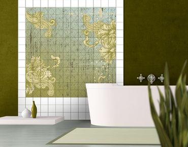 Adesivo per piastrelle - Floral Baroque
