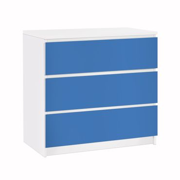 Carta adesiva per mobili IKEA - Malm Cassettiera 3xCassetti - Colour Royal Blue