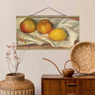 Quadro su tessuto con stecche per poster - Auguste Renoir - Mele E Limone - Orizzontale 1:2