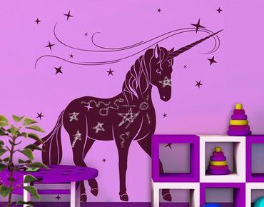 Adesivo murale lavagna no.IS62 Unicorn