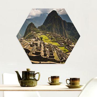 Esagono in Alu-dibond - Machu Picchu