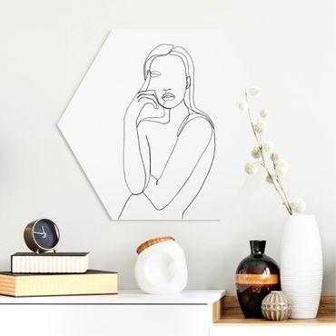 Esagono in forex - Line Art Pensieroso donna Bianco e nero