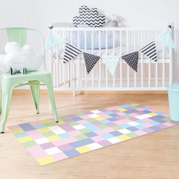 Tappeti in vinile - Mosaico colorato zucchero filato - Verticale 1:2