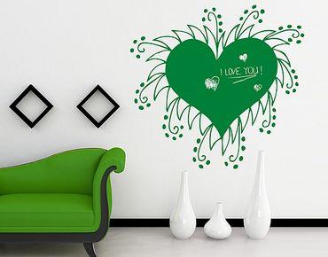 Adesivo murale lavagna no.RS44 Heart No.1