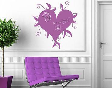 Adesivo murale lavagna no.RS45 Heart No.2