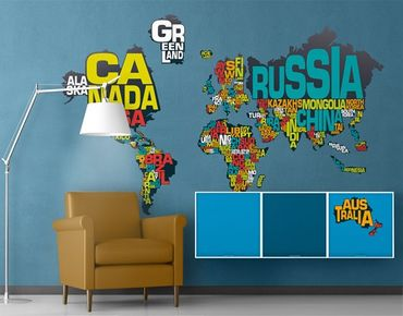 Adesivo murale no.MW64 World Of Letters In English