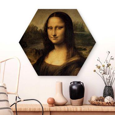 Esagono in legno - Leonardo Da Vinci - Monna Lisa